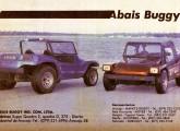 O buggy sergipano Abais em publicidade de 1987.