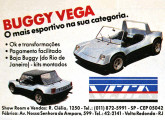 Propaganda contemporânea do buggy Vega.