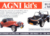 Publicidade de 1988 mostrando o buggy e a réplica MG da paulista Agni.