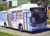 Ônibus híbrido Hybridus, midibus low entry com carroceria Marcopolo projetado em 2009.