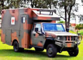 Marruá AM 31 Ambulância, também lançado na LAAD 2017.
