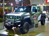 Marruá AM 200 G2 blindado, para uso por forças policiais, exposto no stand da Agrale na LAAD 2017 (foto: LEXICAR).