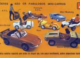 A variada gama de modelos da Alexandre Veículos em folheto de propaganda de 1971.