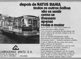 Aratu Natus Bahia com motor traseiro em anúncio de 1977.