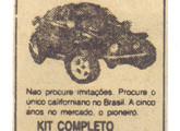 Baja Califórnia da carioca Baja Bug Brasil em anúncio de jornal de janeiro de 1987.
