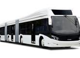 De 2012 é o belo Millenium BRT biarticulado, mostrado pela Caio na FetransRio.