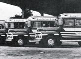 Frota de pequenos lotações com carroceria Caio da empresa N. S. de Aparecida, também sobre chassis Ford 51-52 (fonte: site onibusnostalgia).