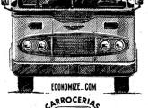 """Caio """"Fita Azul"""" em anúncio de 1958; note o desenho da grade, levemente diferente dos carros de produção (fonte: Jorge A. Ferreira Jr)."""