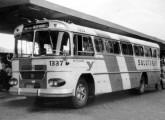 Fotografado na antiga estação rodoviária do Rio de Janeiro, este Scania da Viação Salutaris, de Paraíba do Sul (RJ), trazia uma carroceria de transição - modelo intermediário entre Bossa Nova e Jaraguá (foto: Augusto Antônio dos Santos / onibusbrasil).