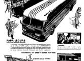 Publicidade de lançamento do rodoviário Papa-Léguas, de 1959.