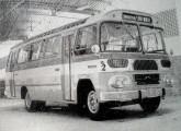 Mascote - o modelo Jaraguá sobre chassi LP fabricado na Caio-Norte. Note as entradas de ar adicionais para ventilação da cabine (fonte: internet, Sérgio Martire).