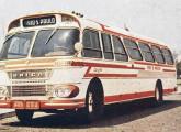 Primeira versão do rodoviário Gaivota sobre chassi Scania, nas cores da empresa Única, sua principal cliente pelos quase dez anos de produção do modelo.