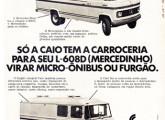 Peça publicitária de 1972 para o lançamento da família de utilitários Caio preparada para o Mercedes-Benz 608.