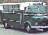 Gabriela Andino sobre Mercedes-Benz 1113, de 1981, exportado para o Chile.