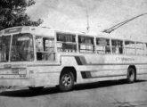 Outro dos trólebus de Araraquara em fotografia de 1977.