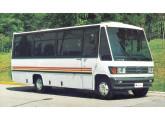 Em 1986, abandonando os componentes da cabine Mercedes-Benz, a Caio deu estilo próprio à dianteira do micro Carolina.