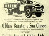 Caminhão Chevrolet em propaganda da concessionária da marca em Manaus (AM) (fonte: site catadoresdepapeis).