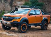Picape-conceito S10 Colorado Xtreme, apresentada no Salão do Automóvel de 2016.