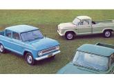 Cabine-dupla C-1414 e picape com chassi longo C-1505 com a nova grade adotada em 1967.
