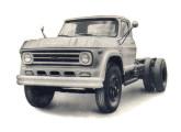 D-70, diesel para 9,1 t, o caminhão Chevrolet mais pesado da década de 60.