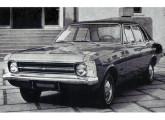 Chevrolet Opala Especial quatro-portas 1973; o teto de vinil indica que o carro foi equipado com o Conjunto de Opções Luxo.