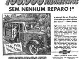 Ônibus Chevrolet com carroceria brasileira em publicidade de 1938.