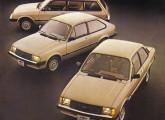 Linha Chevette com a nova frente de 1983, inspirada no Monza.