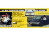 Minitriciclo e carro infantil Ira em publicidade de 1990.