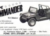 Kit de transformação para jipe Commander, lançado em 1985.