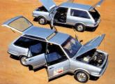 Caminhonetes Dacon de duas e quatro portas, construídas a partir do VW Passat (foto: 4 Rodas).