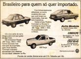 Publicidade de 1980 da rede autorizada VW do Rio de Janeiro anunciando três modelos Passat transformados pela Dacon.