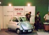 Diaseta em stand da Exposição da Tequena e Média Indústria, evento paralelo à feira Brasil Export 1981 (fonte: site carrosantigoseonibus).