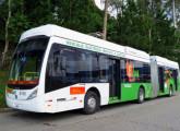 Também da Metra é este E-bus, primeiro articulado elétrico a baterias do mundo.