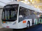 Dual Bus na versão de 13,2 m, apresentado pela Eletra no Salão Latino-Americano de Veículos Elétricos de 2017 (fonte: site revistadoonibusgranderecife).
