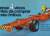 Lançado em 1964, o chassi V-9 permanecia em produção em 1972, embora em quantidades modestas; a imagem foi extraída de um folder de propaganda da época.