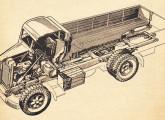 Raio X do primeiro caminhão fabricado no Brasil.