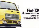 Folder de lançamento do primeiro caminhão Fiat brasileiro – o médio 130.