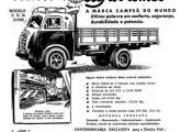 Os primeiros FNM produzidos em série com cabine avançada, em anúncio de jornal de 1952.
