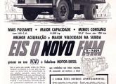 Note a cabine Brasinca nesta publicidade de 1958, anunciando o lançamento do FNM D-10000.