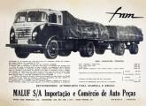 """FNM com cabine Brasinca e configuração """"Romeu e Julieta"""" em propaganda de 1960 de um revendedor paranaense (fonte: Werner Keifer)."""