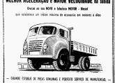 Publicidade do FNM D-11000, de 1958, veiculada por um revendedor do Paraná; curioso, no anúncio, é a divlgação, entre as três cabines disponíveis, daquela raramente fornecida pela carioca Kabi (fonte: Jorge A. Ferreira Jr.).