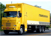 Caminhão semipesado com cabine integrada ao baú, uma das últimas criações da Tecnobus para a Itapemirim (fonte: site viacaoytapemyrymltda).