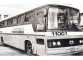 Superbus, ônibus de dois eixos com chassi Mercedes-Benz e carroceria fabricada pela Itapemirim em 1982 (fonte: Transporte Moderno).