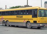 Tribus II, de 1985, a partir daí com carroceria de fabricação própria; o carro da foto já traz a nova pintura, introduzida no final de 1989 (foto: Alex Rubens Tiba Fiori).