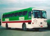 O primeiro Superbus, na frota da Viação Penha, operando a ligação Porto Alegre-São Paulo (foto: Farbício Zulato / onibusbrasil).