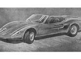 Desenho artístico do GT conversível, que não chegou a ser produzido (fonte: Jornal do Brasil).