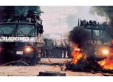 Dois blindados Centurion do Batalhão de Choque da PMSP, em operação na década de 90 (fonte: Tecnologia & Defesa).