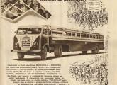 Propaganda de 1956, da Massari, mostrando o papa-filas em sua configuração mais comum, com cabine FNM e carroceria Caio (fonte: Adriana Oliveira / Claudio Lamas de Farias).