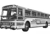 Ônibus rodoviário Massari RCPA, com motor horizontal sob o piso, também de 1964.