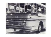 Detalhe do protótipo de ônibus rodoviário com motor traseiro mostrado no VI Salão (foto: Transporte Moderno).